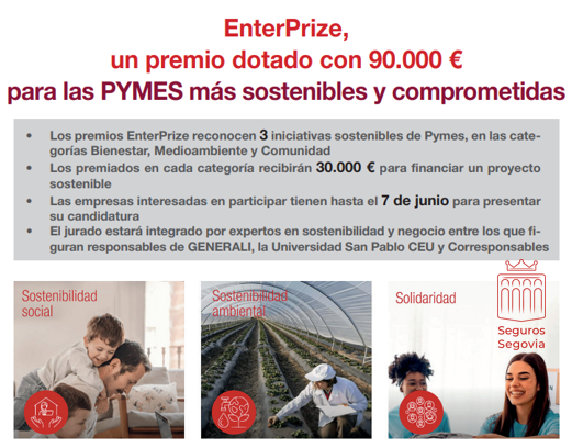 EnterPrize, un premio para las PYMES más sostenibles y comprometidas